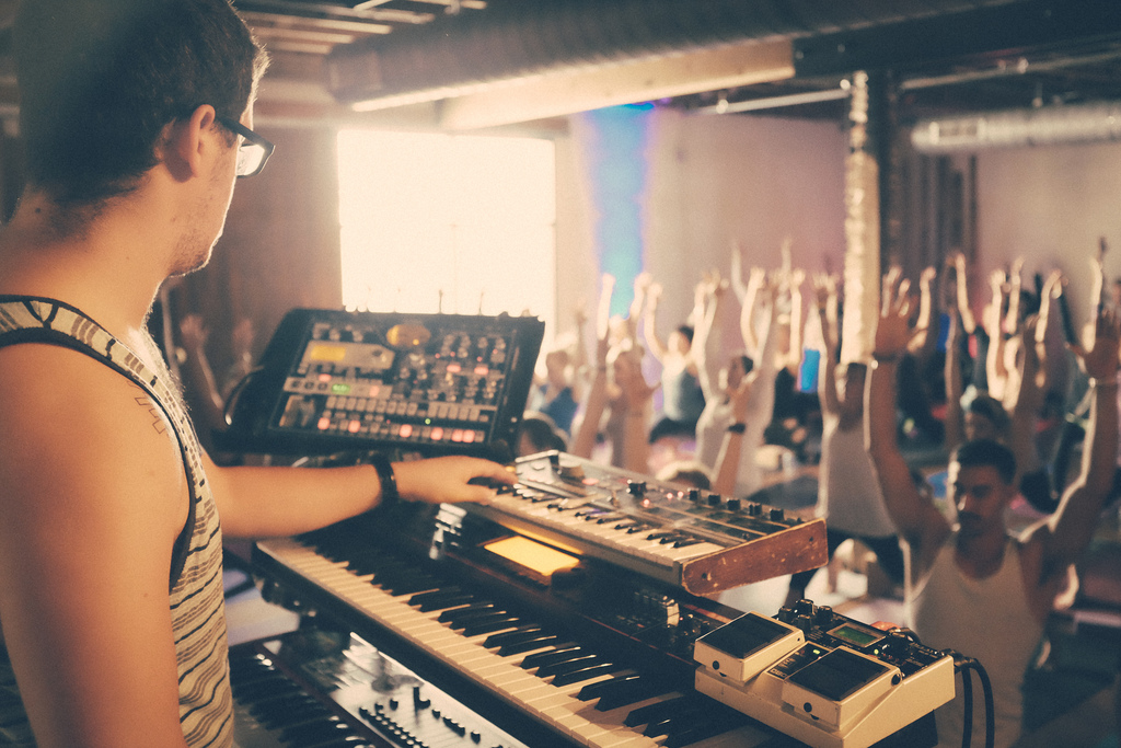 Live Music at a Wanderlust Yoga Studio Class