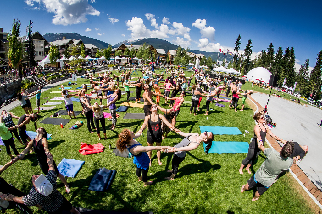 Outdoor Yoga at Wanderlust Festival Whistler