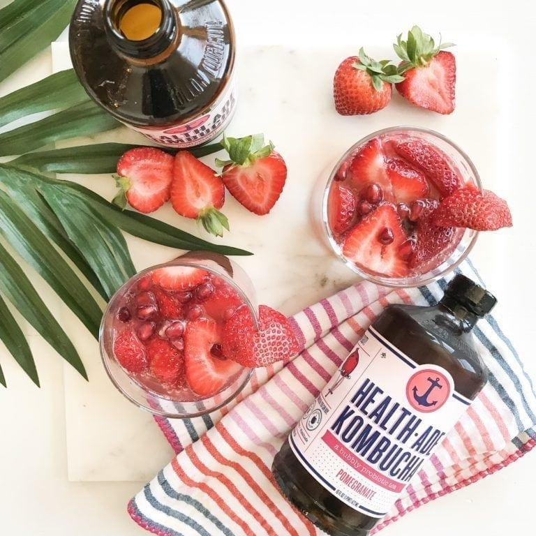 pomegranate strawberry kombucha