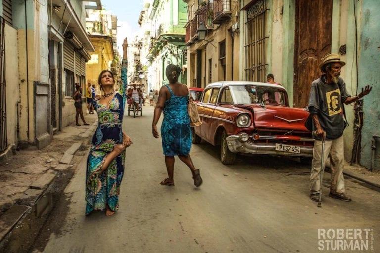 Rina Jakubowicz, photographed in Havana, Cuba.