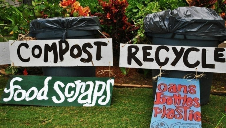 Disposing of waste responsibly at Wanderlust O'ahu