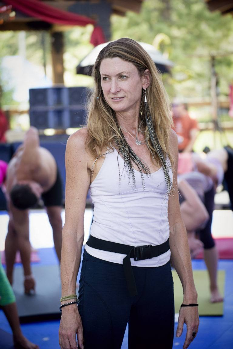 Janet Stone teaching at Wanderlust Squaw Valley, 2013.