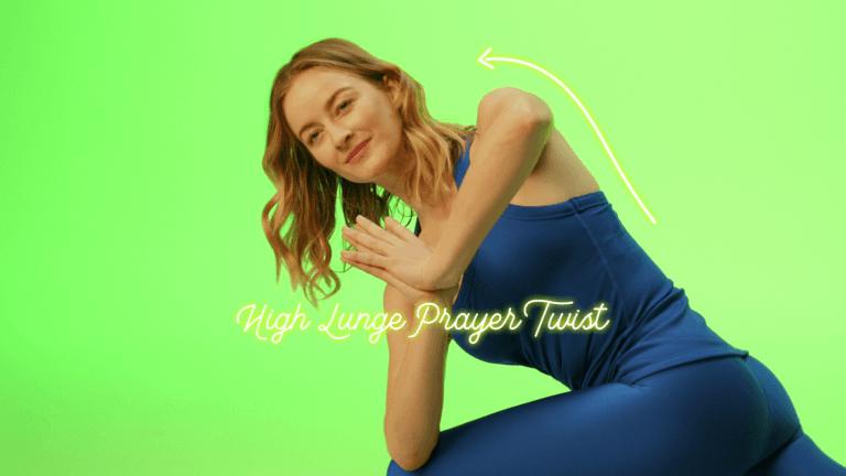 high lunge prayer twist caley alyssa