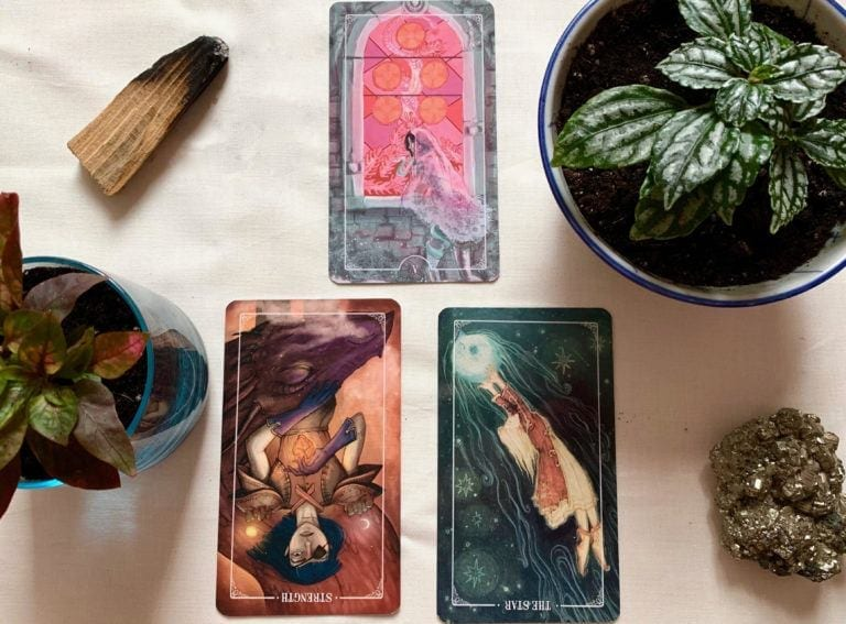 april tarot spread with ostera deck