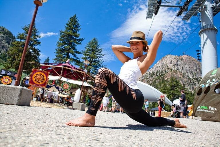 woman in low lunge