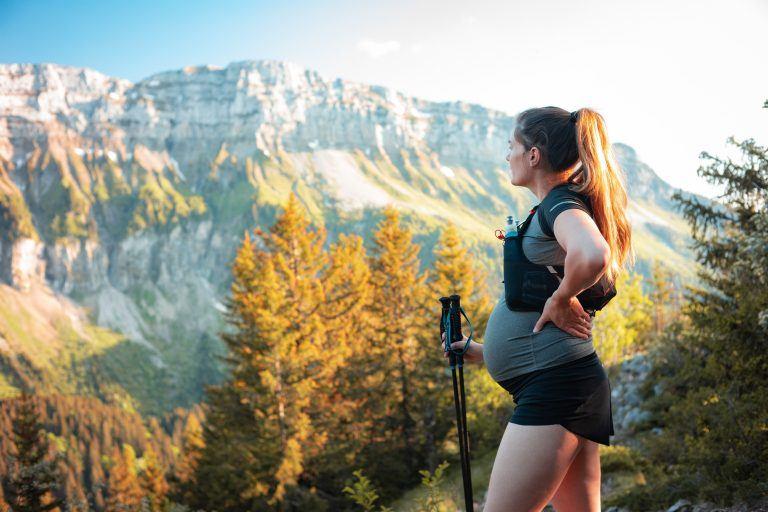 pregnant hiker