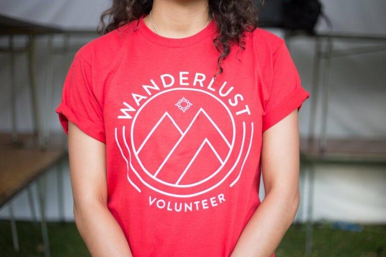 volunteer wearing t-shirt